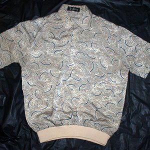 Alan Stuart Mens Short Sleeve Pullover Waist Band